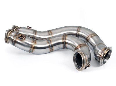 """Macht Schnell - Stainless Steel 3"""" Catless Track Downpipe - N54"""
