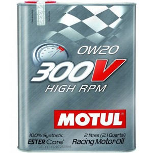 """Motul 300V """"High RPM"""" 0W20  - 2 Liter Tin"""