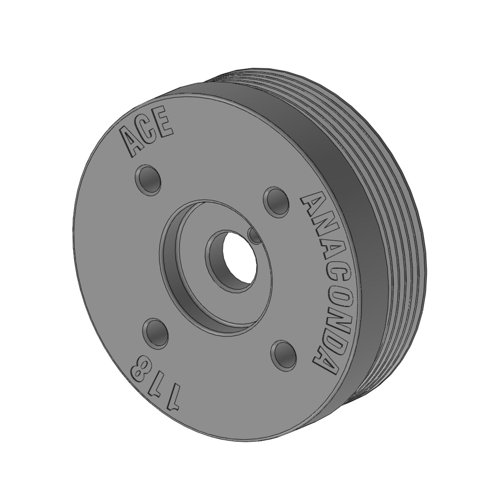 ACE Merge Header - Engine Crank Pulley - 118mm Diameter - Subaru BRZ / Scion FR-S / Toyota GT86