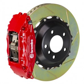 """Brembo - GT System - 332x32mm (13.1"""") 2-Piece Slotted Disc - 4-Piston Red Caliper - Front Big Brake Kit - Subaru BRZ / Scion FR-S / Toyota GT86"""