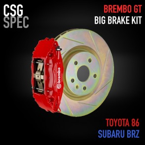 CSG Spec - Brembo GT Big Brake Kit - 4 Piston - 326x30mm Slotted Disc - Subaru BRZ / Scion FR-S / Toyota GT86