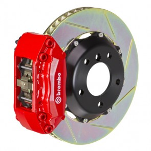 "Brembo - GT System - 328x28mm (12.9"") 2-Piece Slotted Disc - 4-Piston Red Caliper - Front Big Brake Kit - Ford Fiesta / Fiesta ST"