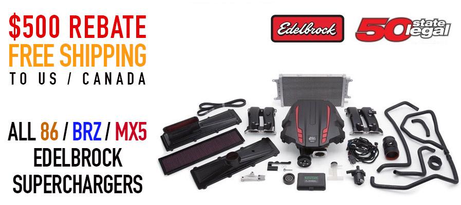 Edelbrock 86 BRZ MX5 Sales - Superchargers