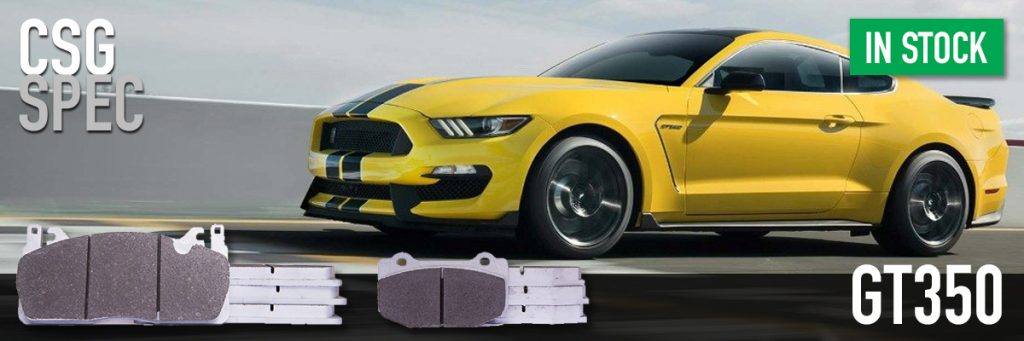 Ford Mustang GT350 track day brake pads