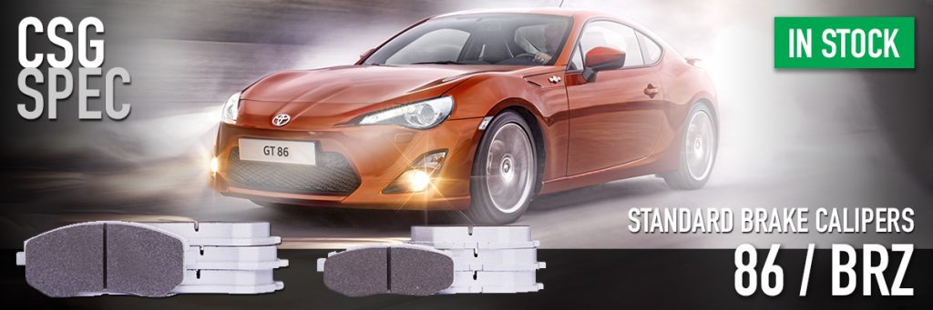 Toyota 86 & Subaru BRZ brake pads for standard calipers